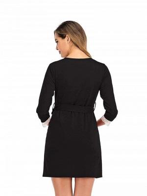Schwarz Sommerkleider für Schwangere | Elegante Kleider Schwangere_2