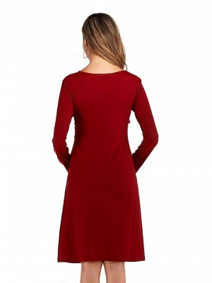 Elegant dresses pregnant women | Red Maxi Dress Pregnant Cheap_2