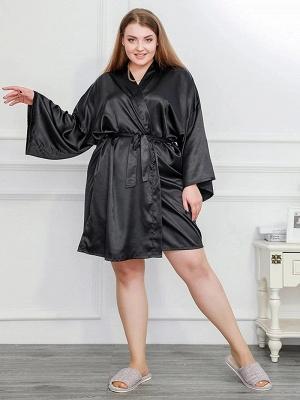 Schwarz Schlafanzug Damen Lang Große Größe Online Kaufen_3