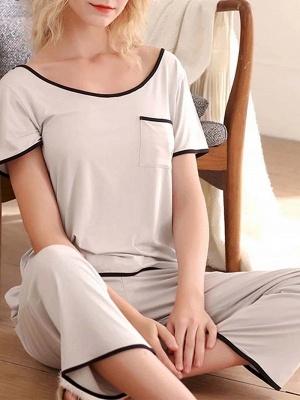 Terrycloth pajamas women | Maternity pajamas 2 pieces_4