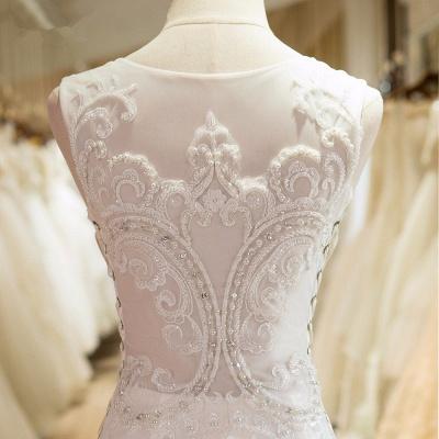 Brautmoden Meerjungfrau Weiße Brautkleider Schlepper Hochzeitskleider_2