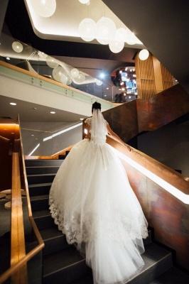 2021 Weiße Brautkleider Prinzessin V Auschnitt Organza Mit Spitze Brautmoden Online_2