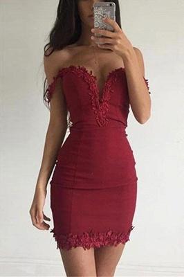 Wine Red Prom Dresses Short Prom Dresses Satin Mermaid Evening Wear_1