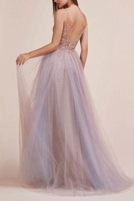 Elegante Abendkleider Lang v Ausschnitt | Abiballkleider Mit Spitze_3