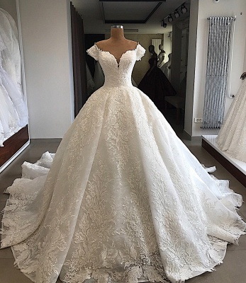 Elegant wedding dresses with lace | Wedding dresses a line online_2