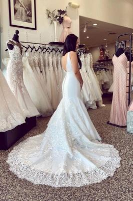 Schlichte Hochzeitskleider Mit Spitze | Brautkleider Meerjungfrau Online_2
