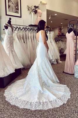 Simple wedding dresses with lace | Mermaid wedding dresses online_2