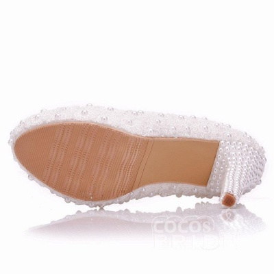 White wedge wedding shoes | Ivory wedding shoes cheap_4
