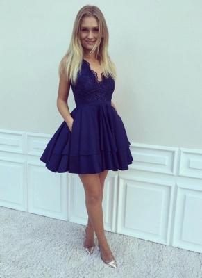 Cocktail Dresses Short Cheap King Blue Lace Evening Dress Party Dresses_2
