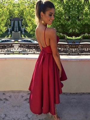 Wine red prom dresses short a line cocktail dresses online_2