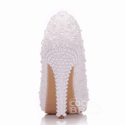 White wedge wedding shoes | Ivory wedding shoes cheap_6