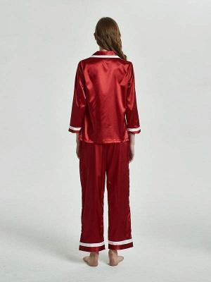 2 pieces red nightwear women elegant | Schiesser pajamas_2