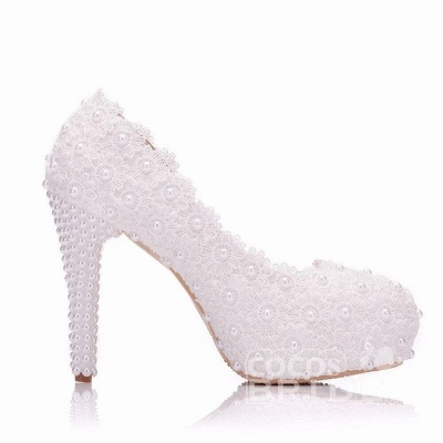 White wedge wedding shoes | Ivory wedding shoes cheap_2