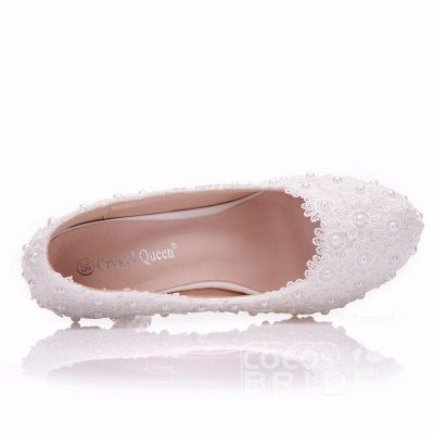 White wedge wedding shoes | Ivory wedding shoes cheap_3