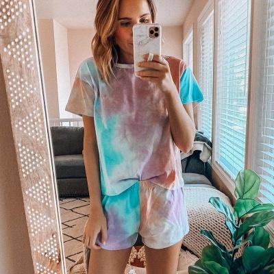 2 Teilig Pyjama Gradient | Damen Schlafanzüge Günstig