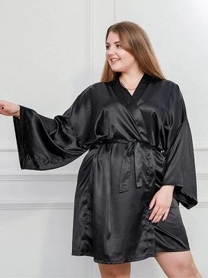 Schwarz Schlafanzug Damen Lang Große Größe Online Kaufen_2