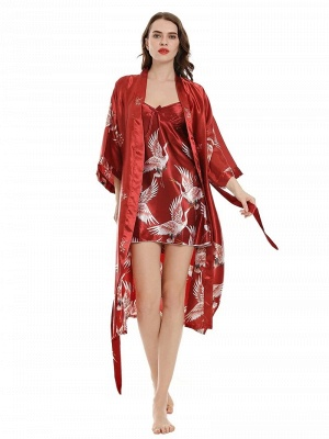Satin unicorn pajamas red | Pajamas women Schiesser_4