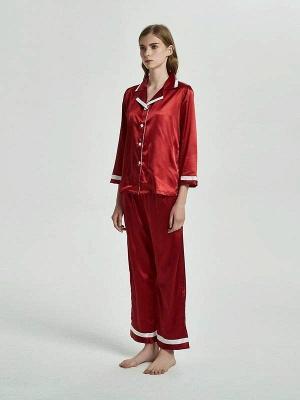 2 pieces red nightwear women elegant | Schiesser pajamas_1