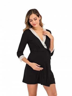Schwarz Sommerkleider für Schwangere | Elegante Kleider Schwangere_3