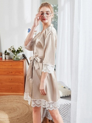 Satin Schlafanzug Damen Günstig | Schiesser Nachtwäsche Elegant_3