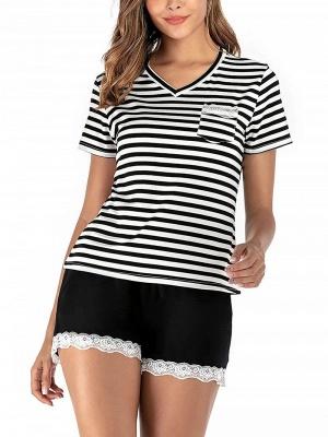 Pyjama Schlafanzug Damen | 2 Teillige Nachtwäsche Online_1