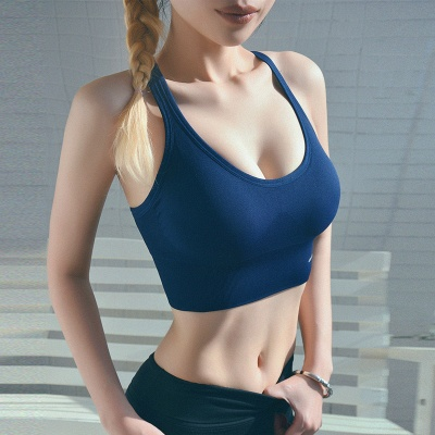 2 pack women's bustier organic cotton sports bra top top_3