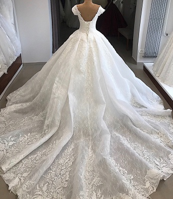 Elegant wedding dresses with lace | Wedding dresses a line online_3