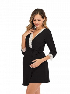 Schwarz Sommerkleider für Schwangere | Elegante Kleider Schwangere_4