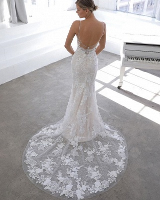 Designer wedding dress A line | Lace Wedding Dresses Cheap Online_4