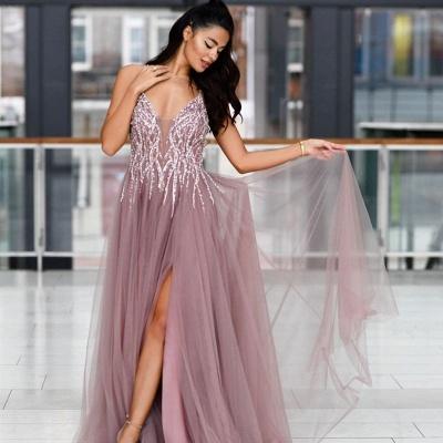 Abendkleider Lang V Ausschnitt | Abiballkleider Abendmoden Günstig Online_2