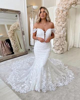 Designer Hochzeitskleider Meerjungfra | Brautmoden Spitze Online_2