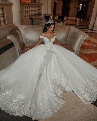 Elegante Hochzeitskleider A linie | Tüll Brautkleid mit Spitze_3