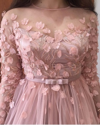 Evening dresses long pink | Prom dresses with sleeves_5