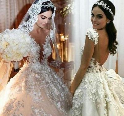 Luxus Hochzeitskleider Prinzessin | Günstige Brautmoden Mit Spitze_5