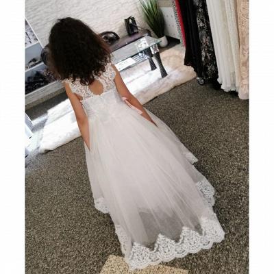 Wedding dresses kids fashion | Flower girl dress white_4
