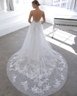 Designer wedding dress A line | Lace Wedding Dresses Cheap Online_2