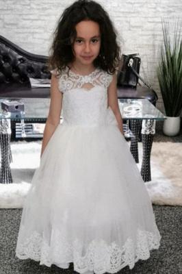 Hochzeitskleider Kindermode | Blumenmädchen Kleid Weiss