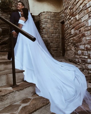 Elegant Wedding Dresses Plain | Wedding Dress A Line Online_2