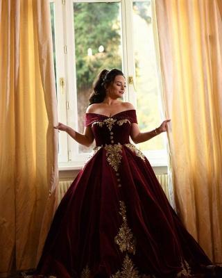 Weinrot Abendkleider Lang Mit Spitze | Abiballkleider Prinzessin Online_7