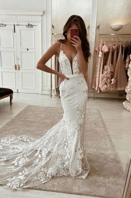 Elegante Brautkleider mit Spitze | Hochzeitskleid Meerjungfrau Online_1