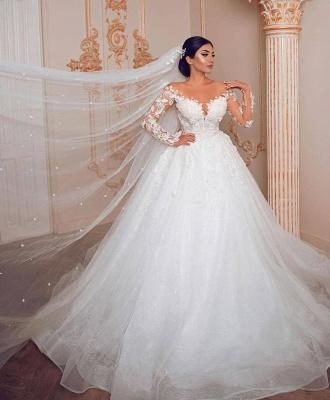 Wunderschöne Hochzeitskleider mit Ärmel | Spitze Brautkleid Prinzessin_2