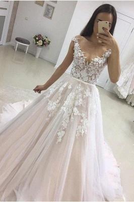 Modern Brautkleider A Linie | Hochzeitskleider mit Spitze Online