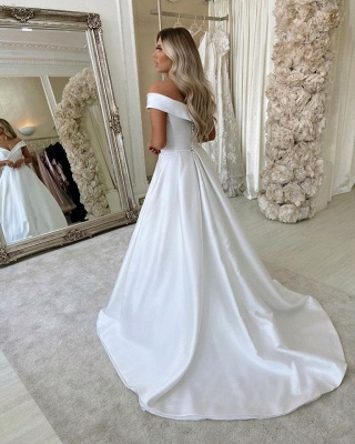 Cheap Wedding Dresses A line | Satin Wedding Fashions Online_3