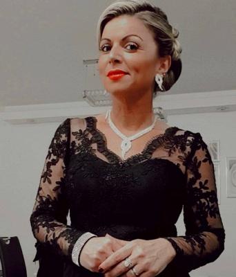Schwarze Brautmutterkleid Günstig | Brautmutterkleider Lang mit Ärmel_3