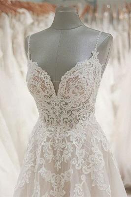 Schlichte Brautkleider A Linie Spitze | Hochzeitskleider Günstig_4