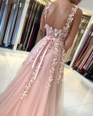 Gorgeous Evening Dresses Long Pink | Ball gowns with lace_4
