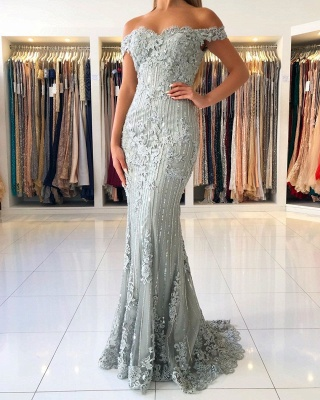 Evening dresses long lace glitter | Evening dress large sizes_3