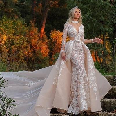 Designer Brautkleider mit Ärmel | Spitze Brautmoden A linie_2