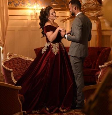 Weinrot Abendkleider Lang Mit Spitze | Abiballkleider Prinzessin Online_3