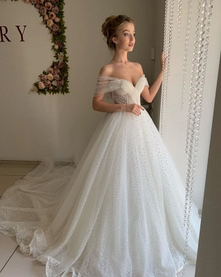 Beautiful wedding dresses princess | Wedding dresses tulle with lace_4
